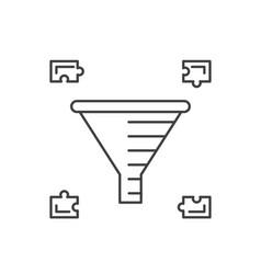 internet marketing concept sale funnel vector image