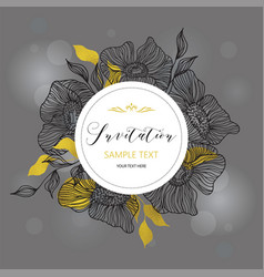 Invitation and greeting card vector