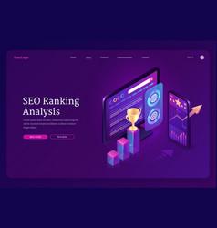 Landing page seo ranking analysis vector