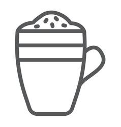 latte line icon coffee and cafe coffee mug sign vector image