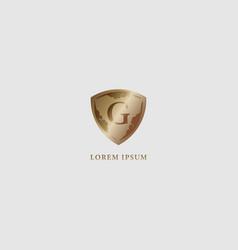 Letter g alphabet logo design template luxury vector