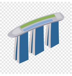 Marina bay sands hotel in singapore isometric icon vector