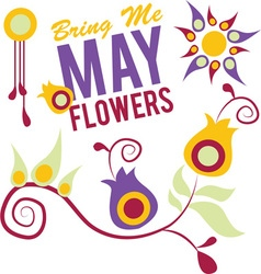 May Flowers vector