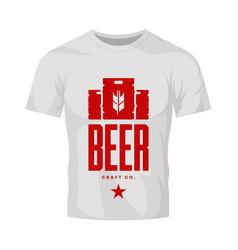 Modern craft beer drink logo sign for bar shop vector