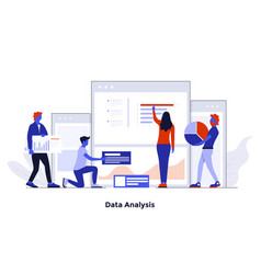 modern flat design concept - data analysis vector image