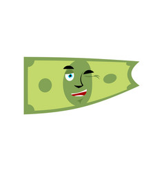 money winks emotion cash emoji cheerful dollar vector image