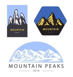 Mountain adventure and expedition logo vector image