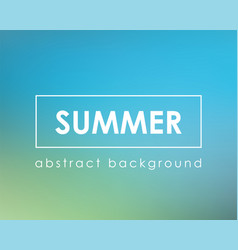nature summer blue blur background vector image