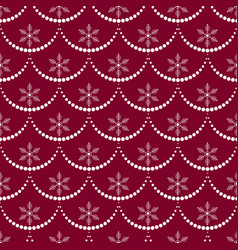 new year seamless pattern with garland and vector image