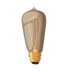 Old retro lamp vector image