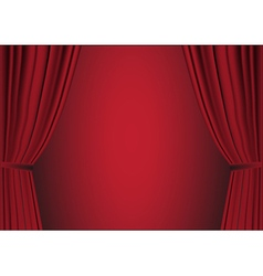 open red curtain vector image