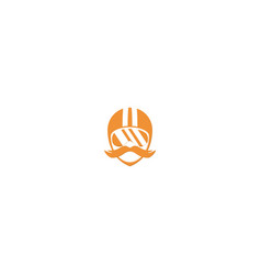 people with helm logo design symbol dan icon vector image