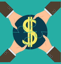 profit from the partnerships vector image
