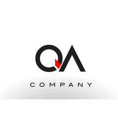 Qa logo letter design vector