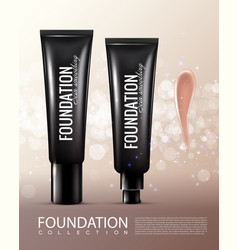 Realistic cosmetic product template vector