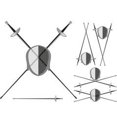 saber for fencing vector image