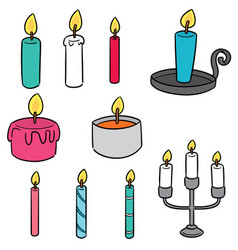 Set of candle vector
