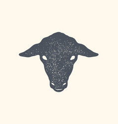 sheep vintage retro print poster banner black vector image