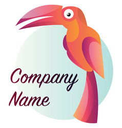 simple colorful parot with blank text logo design vector image