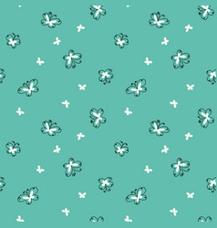 simple doodle butterflies seamless pattern vector image