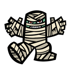 spooky mummy character vector image