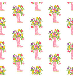Spring flowers seamless pattern vector