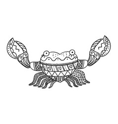 Stylized crab isolated on white background vector