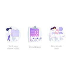 Teeth straightening concept metaphors vector