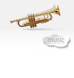Trumpet on white background vector image vector image