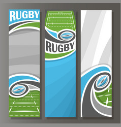 vertical banners for rugby vector image