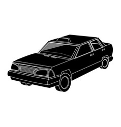 Vintage 90s style taxi car icon image vector