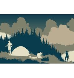 Wilderness camp vector