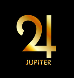 Zodiac and astrology symbol planet jupiter vector