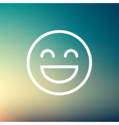 Cheerful emoji thin line icon vector image
