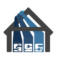 Renovation and construction of houses vector