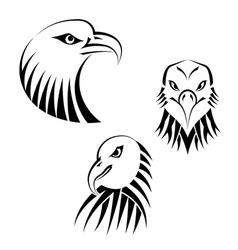 Set Eagles Heads vector image