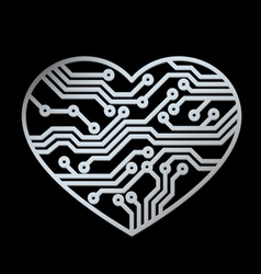 technology love vector image vector image
