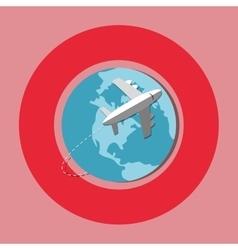 Travel airplane world vector