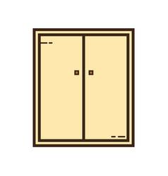 Flat color cupboard icon vector