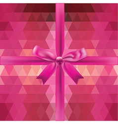 Glamour pink bow isolated vector image