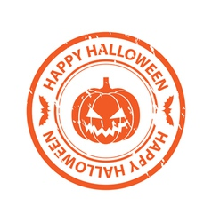 Halloween rubber stamp vector image vector image