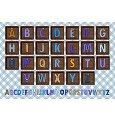 Letter blocks vector