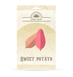 Pack of sweet potato seeds vector