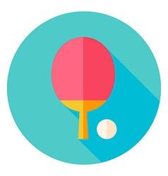 Ping Pong Circle Icon vector image vector image