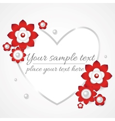 White floral 3d background vector image vector image