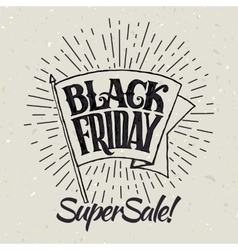 Black Friday and light rays vector image vector image
