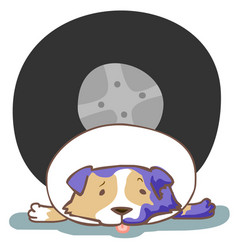 dog hit by car accident vector image