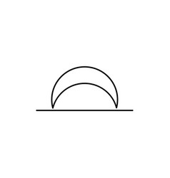 moon set line icon vector image