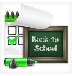 School blackboard and felt-tip pen vector