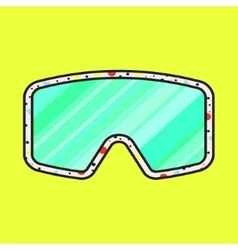 Ski fashion sunglasses icon vector image vector image